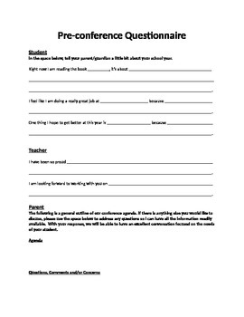 Pre-Conference Questionnaire
