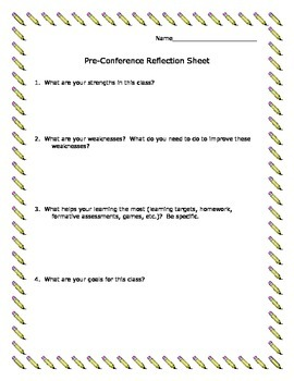 Pre-Conference Reflection Sheet