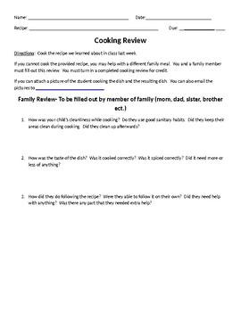 Pre Cooking Activity