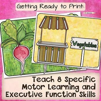 Pre-Handwriting: 8 Essential Readiness Skills~ Fruits Vegetables, Garden, Snacks