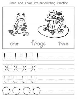 Pre-Handwriting worksheet fun pack