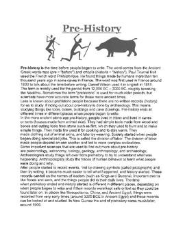 Pre-History Handout