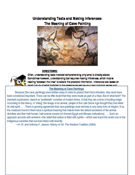 Pre-History- Understanding Text: The Meaning of Cave Paintings