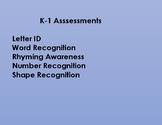 Pre-K - 1st Grade Spanish Assessments (BOY, MOY, and EOY)