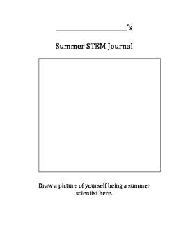Pre K-2 Summer STEM Journal