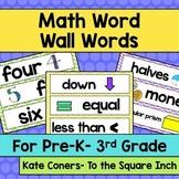 Pre-K – 3rd Grade Math Common Core Word Wall Words (Chevro