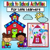 Pre-K & TK Activities: Back to School