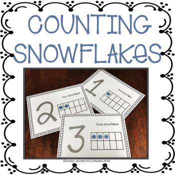 Pre K Adapted Book Counting, Prepositions & Tracing Numerals with Snowflakes
