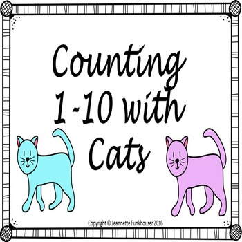 Pre K Adapted Book: Let's Count to 10 with Cats