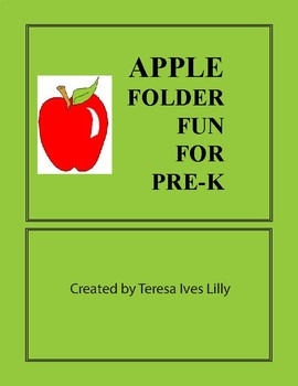 Pre-K Apple Folder Fun