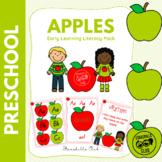 Pre K Apple Literacy Centers