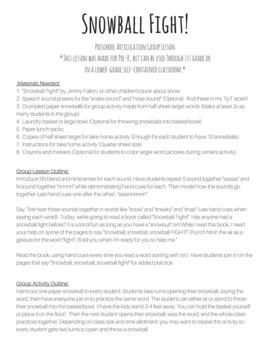 Pre-K Articulation Group Lesson /SN/ Blends