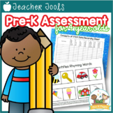 Pre-K Assessment Kit - A Comprehensive Assessment Tool and Binder for PreK