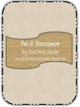 Pre-K Assessment Pack