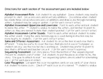 Pre-K Assessment Packet