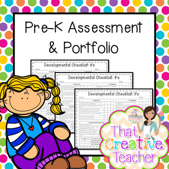 Pre-K Assessment & Portfolio for Ages 3,4, & 5