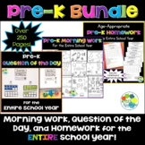 Pre-K BUNDLE for the Entire School Year