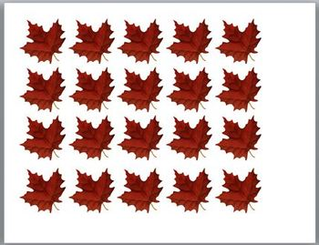 Pre-K Base 10 Autumn Leaves Math/Writing Activity. With scoring rubric.