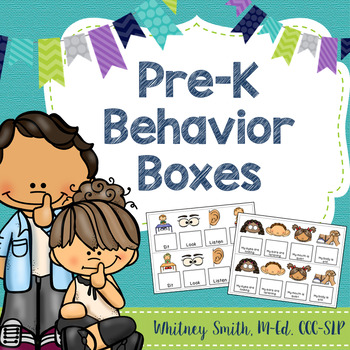 Pre-K Behavior Boxes for Classroom Management and Speech Therapy