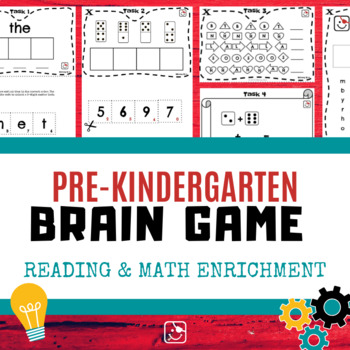 Pre-K Brain Game (FREEBIE) - Reading & Math Enrichment