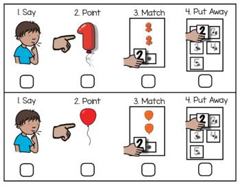 Pre-K Center Activity: Counting 1 - 10 with Balloon, 4 ways