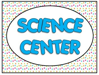 Pre K Center Signs