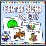 Pre-K Center Signs for Back to School Classroom Decor