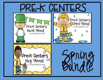 Pre-K Centers: Spring Bundle