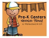 Pre-K Centers: Thanksgiving Themed