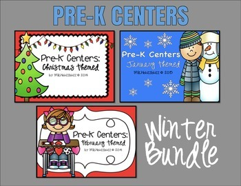 Pre-K Centers: Winter Bundle