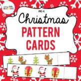 Pre-K Christmas Pattern Strips