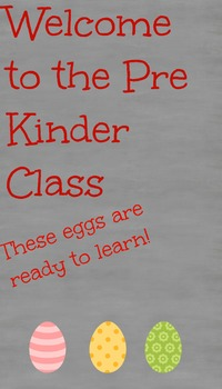 Pre-K Class Welcoming Sign