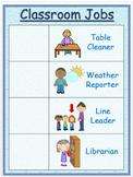 Pre-K Classroom Jobs Poster