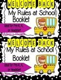 Pre-K Classroom Rules Booklet, Librito de las reglas de Pre-K