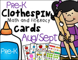 Pre-K Clip Cards - Back to School Edition