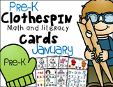 Pre-K Clip Cards - January
