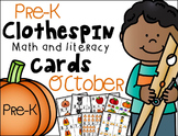 Pre-K Clip Cards - October