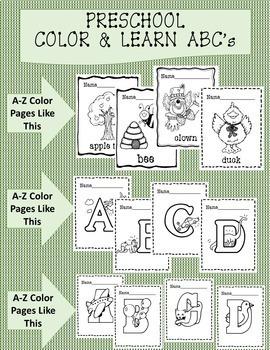 Pre-K Color & Learn ABC's