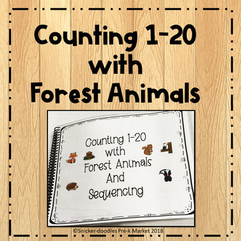 Pre K Counting 1-20 with Forest Animals Special Education