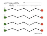 Pre-K Cutting Lines Worksheets