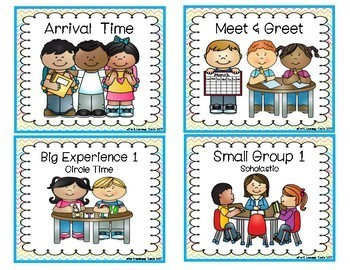 Pre-K Daily Routine Cards(Chevron)