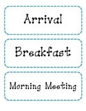 Pre-K Daily Schedule Labels