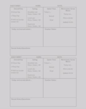 Pre-K Daily Sheet (PDF)