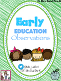 Early Education Developmental Observations