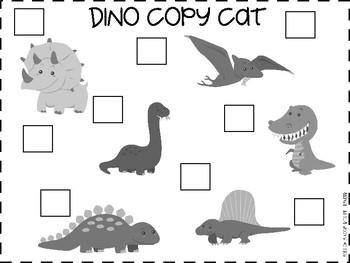 Pre-K Dinosaur Copy Cat Cooperative Game