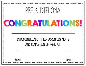 pre k diploma by absolute imagination teachers pay teachers