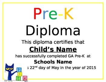 pre k diploma by pre k panda prints teachers pay teachers
