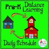 Pre-K Distance Learning Daily Schedule and Hands-On Content