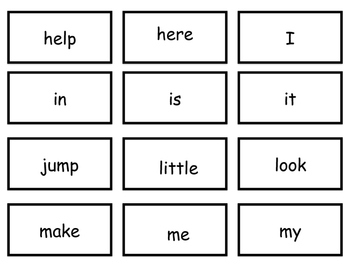 Pre-K Dolch Sight Words