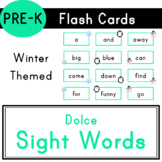 Pre-K - Dolce Sight Words - 40 Winter Themed Flash Cards